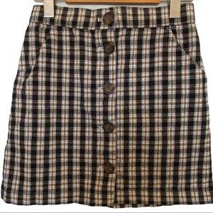 Hollister '90s Plaid Print Mini Skirt size XS EUC